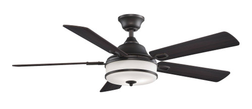 Fanimation FP8274DZ Stafford - 52 inch - Dark Bronze with Cherry/Dark Walnut Reversible Blades and LED At CLW Lighting!