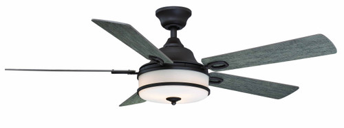 Fanimation FP8274GR Stafford - 52 inch - Matte Greige with Weathered Wood Blades and LED At CLW Lighting!