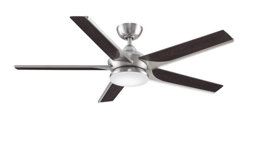 Fanimation FPD6228BN Subtle - 56 inch - Brushed Nickel with Bourbon Blades and LED Light Kit At CLW Lighting!