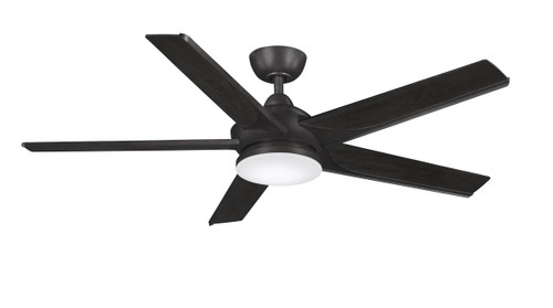 Fanimation FPD6228DZ Subtle - 56 inch - Dark Bronze with Bourbon Blades and LED Light Kit At CLW Lighting!