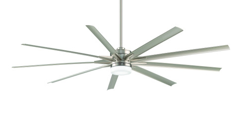 Fanimation FPD8148BN-220 Odyn - 84 inch - Brushed Nickel with Brushed Nickel Blades and LED Light Kit - Wet Rated - 220V At CLW Lighting!