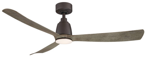 Fanimation FPD8534GR Kute - 52 inch - Matte Greige with Weathered Wood Blades At CLW Lighting!
