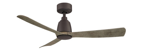 Fanimation FPD8547GR Kute - 44 inch - Matte Greige with Weathered Wood Blades At CLW Lighting!
