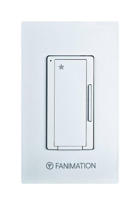 Fanimation WC1WH Wall Control - Fan 3 Speeds - White At CLW Lighting!