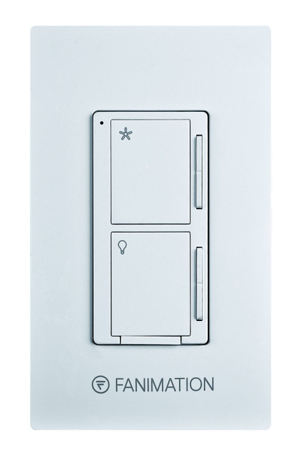 Fanimation WC2WH Wall Control - Fan 3 Speeds and Dimming Light - White At CLW Lighting!