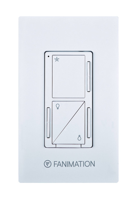 Fanimation WC3WH Wall Control - Fan 3 Speeds and Upper/Down Light - White At CLW Lighting!