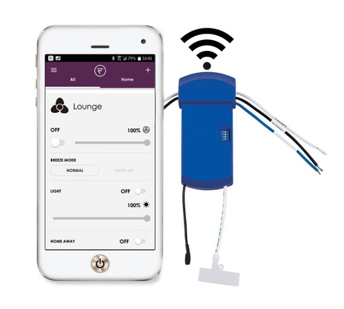 Fanimation WFR8534 fanSync WiFi Receiver for Kute 52 inch Ceiling fan At CLW Lighting!