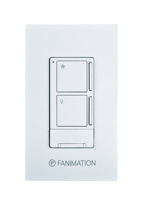 Fanimation WR501WH Wall Control with Receiver - 3 Fan Speeds & Light - White At CLW Lighting!