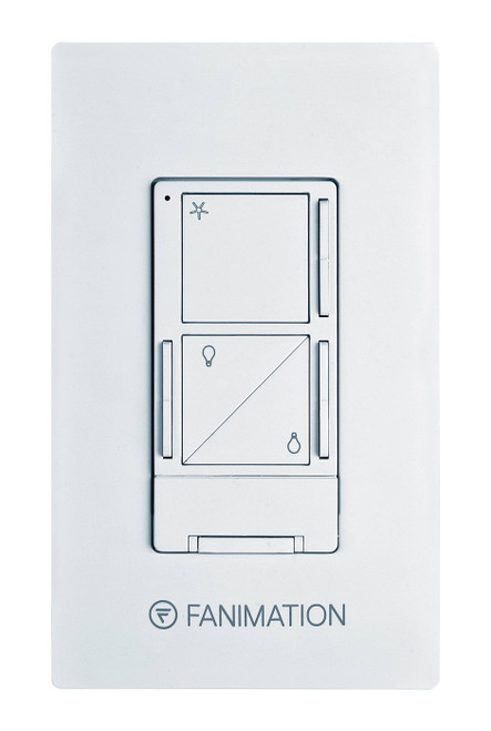 Fanimation WR502WH Wall Control with Receiver - 3 Fan Speeds & Up/Down Light - White At CLW Lighting!