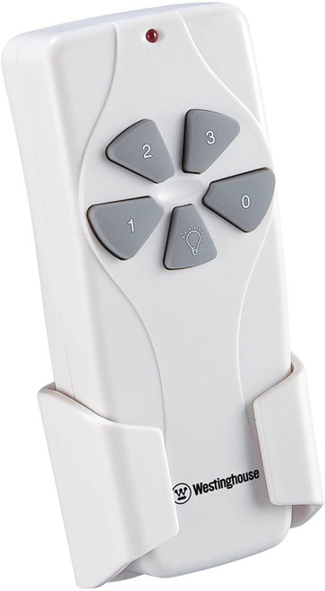 Westinghouse Lighting 7787000 Hand Held Ceiling Fan and Light Remote Control, White Finish