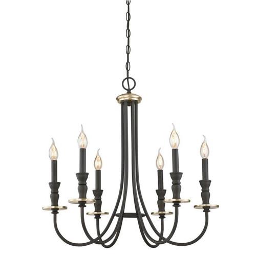 Westinghouse Lighting  6325200 CRESTING 6 Light Chandelier Oil Rubbed Bronze Finish