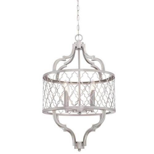 Westinghouse Lighting  6368500 SAHARA 4 Light Chandelier Brushed Nickel Finish