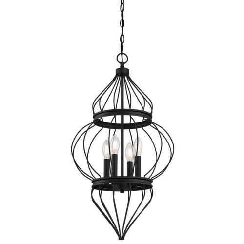Westinghouse Lighting  6368600 SALMA 4 Light Chandelier Matte Black Finish