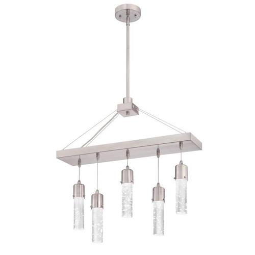 Westinghouse Lighting  6371900 CAVA 5 Light LED Chandelier Brushed Nickel Finish Bubble Glass