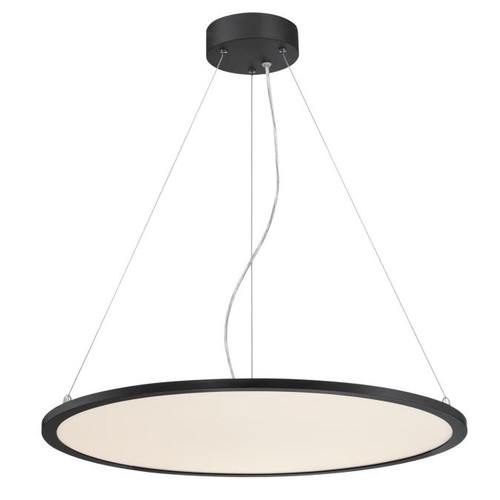Westinghouse Lighting  6575000 ATLER LED Chandelier Matte Black Finish White Acrylic Disc