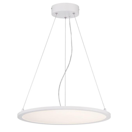Westinghouse Lighting  6575100 ATLER LED Chandelier Matte White Finish White Acrylic Disc