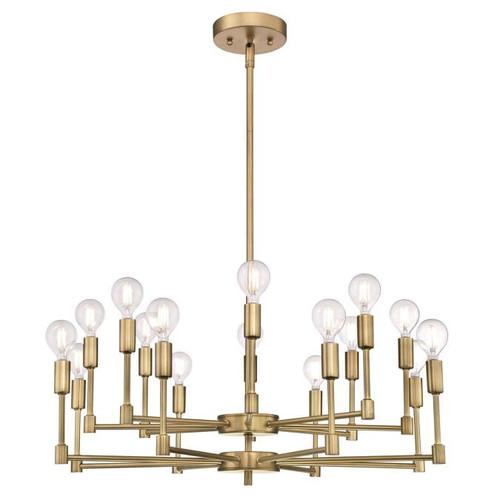 Westinghouse Lighting  6576100 CAMRYN 16 Light Chandelier Brushed Brass Finish