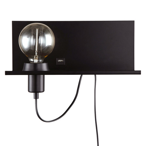 Dainolite Lighting  1100-1W-MB 1 Light Incandescent Wall Sconce Shelf Matte Black Finish