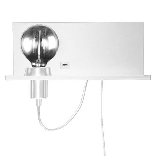 Dainolite Lighting  1100-1W-MW 1 Light Incandescent Wall Sconce Shelf Matte White Finish