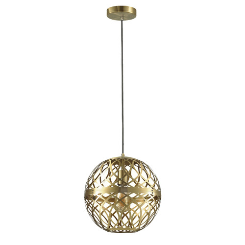 Dainolite Lighting  121P-AGB 1 Light Incandescent Pendant Aged Brass Finish