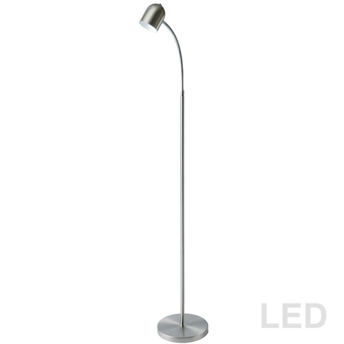 Dainolite Lighting  123LEDF-SC 5 Watt LED Floor Lamp, Satin Chrome Finish