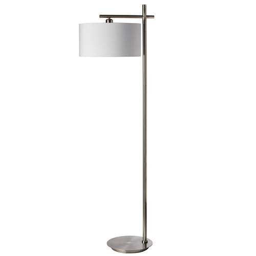 Dainolite Lighting  131F-SC 1 Light Floor Lamp, Satin Chrome Finish