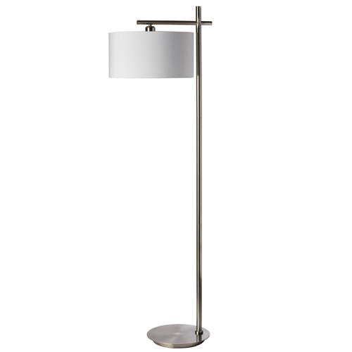 Dainolite Lighting  131F-SC 1 Light Floor Lamp, Satin Chrome Finish
