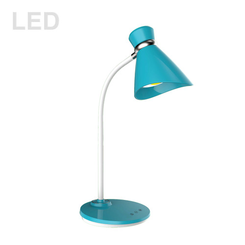 Dainolite Lighting  132LEDT-BL 6W LED Desk Lamp Blue Finish