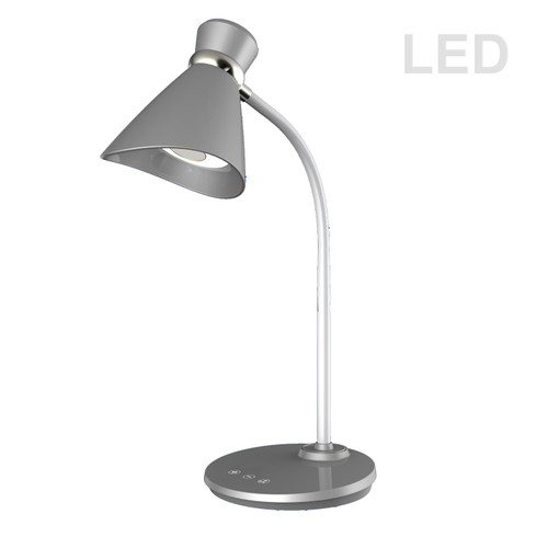 Dainolite Lighting  132LEDT-SV 6W LED Desk Lamp, Silver Finish