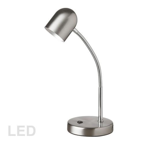 Dainolite Lighting  134LEDT-SC 5 Watt LED Table Lamp, Satin Chrome Finish