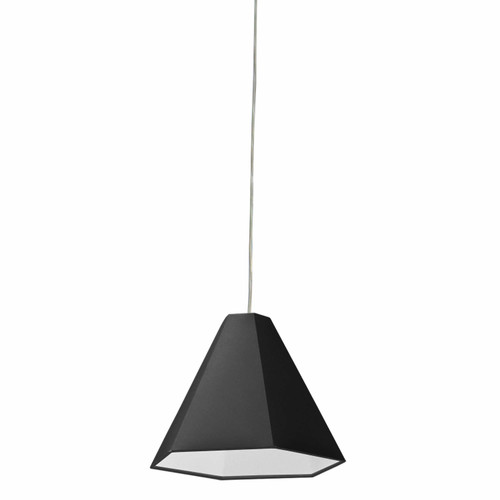 Dainolite Lighting  141P-PC-BK 1 Light Incandescent Pendant Polished Chrome with Black Shade