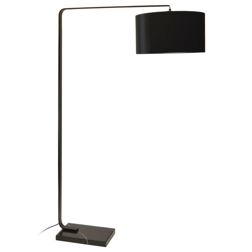 Dainolite Lighting  160F-MB 1 Light Incandescent Floor Lamp Electrical, Black Finish with Black Marble Base