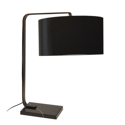 Dainolite Lighting  160T-MB 1 Light  Incandescent Table Lamp, Black Finish