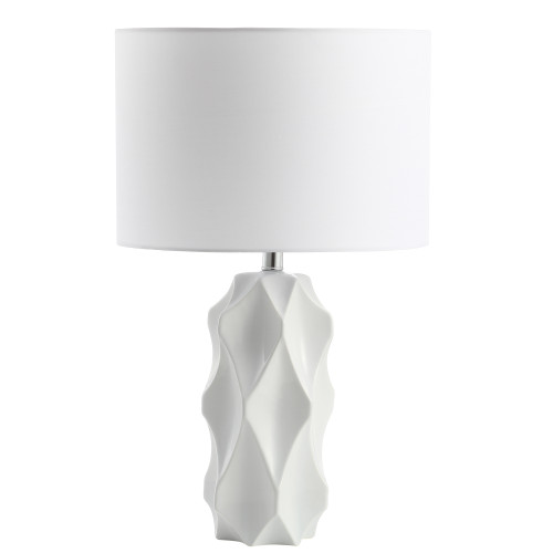 Dainolite Lighting  161T-MW 1 Light Incandescent Table Lamp White Finish with White Shade