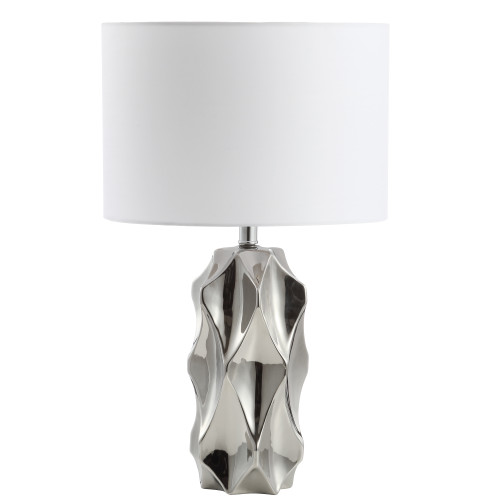 Dainolite Lighting  161T-PC 1 Light Incandescent Table Lamp Polished Chrome Finish with White Shade