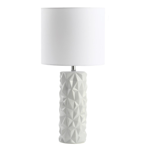 Dainolite Lighting  162T-MW 1 Light Incandescent Table Lamp White Finish with White Shade