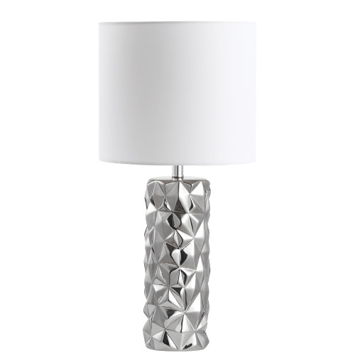Dainolite Lighting  162T-PC 1 Light Incandescent Table Lamp Polished Chrome Finish with White Shade