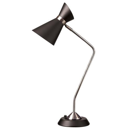 Dainolite Lighting  1679T-BK-PC 1 Light Table Lamp, Matte Black /Polished Chrome