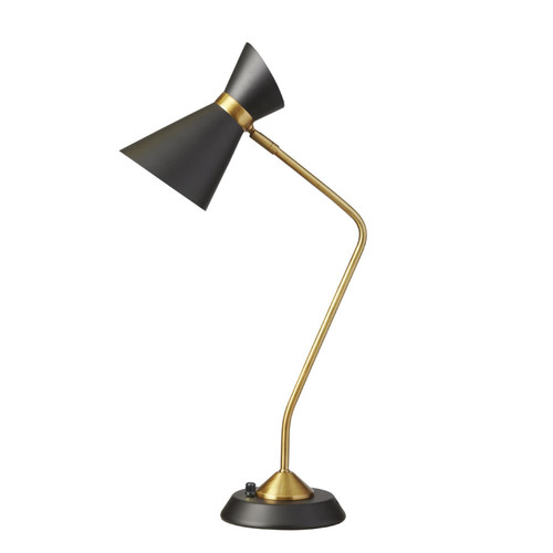 Dainolite Lighting  1679T-BK-VB 1 Light  Table Lamp, Matte Black / Vintage Bronze
