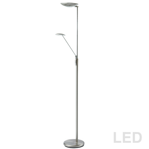 Dainolite Lighting  170LEDF-SC Mother & Son LED Floor Lamp, Satin Chrome Finish