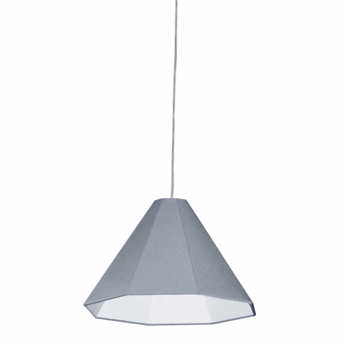 Dainolite Lighting  181P-PC-GRY 1 Light Incandescent Pendant Polished Chrome with Grey Shade