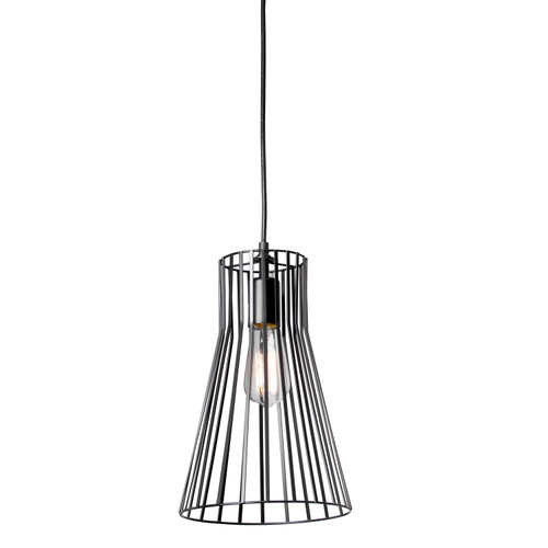 Dainolite Lighting  185-81P-BK 1 Light Incandescent Pendant, Black Finish