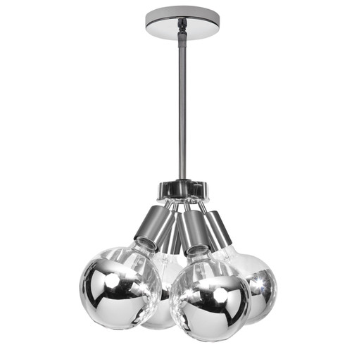 Dainolite Lighting  214-64P-PC 4 Light Pendant, Polished Chrome Finish