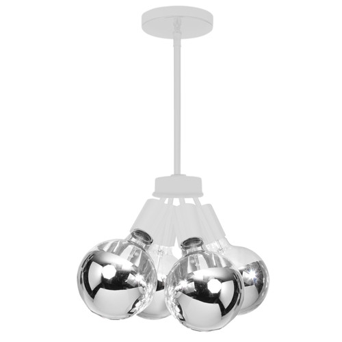 Dainolite Lighting  214-64P-WH 4 Light Pendant, Matte White Finish