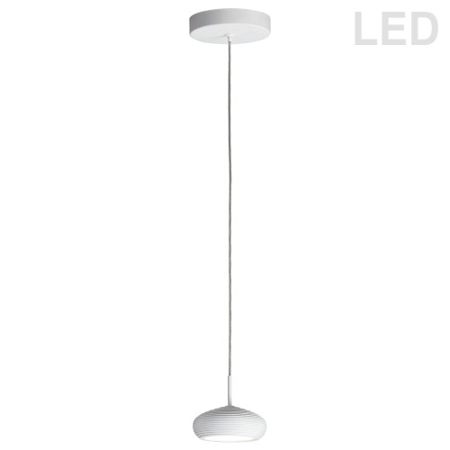 Dainolite Lighting  281LED-1P-WH 5W LED Pendant White Finish