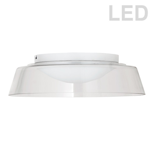 Dainolite Lighting  3145-LEDFH18-CL-MW 35W LED Flush Mount, Matte White with Clear Glass