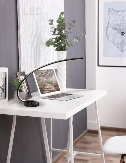 Dainolite Lighting  322-LEDT-BK LED Table Lamp, 18 Watt, Black Finish