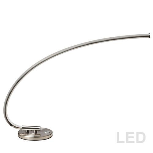 Dainolite Lighting  322-LEDT-SC LED Table Lamp, 18 Watt, Satin Chrome Finish