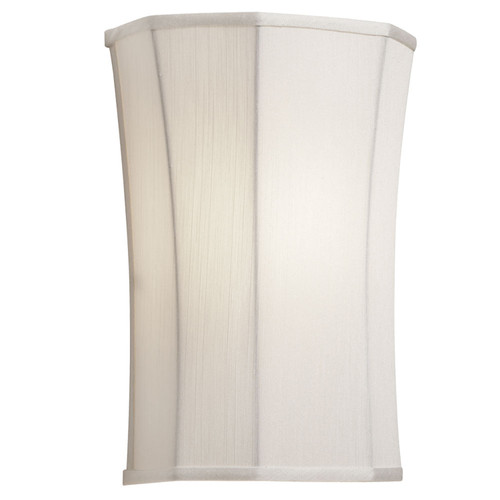 Dainolite Lighting  338712W-131 1 Light Wall Sconce, Ivory Fabric Shade
