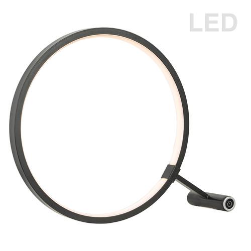 Dainolite Lighting  415LEDT-BK 15W LED Table Lamp, Black Finish